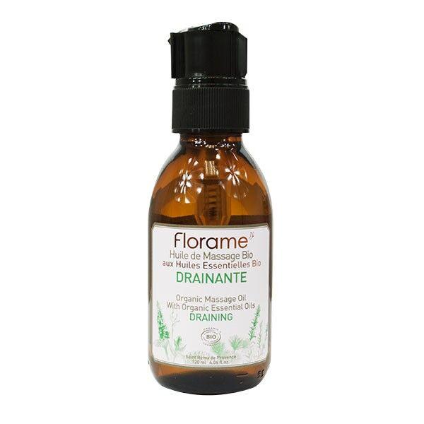 Florame Aromathérapie Huile Massage Drainante Bio 120ml