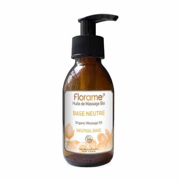 Florame Aromathérapie Huile Massage Base Neutre Bio 120ml