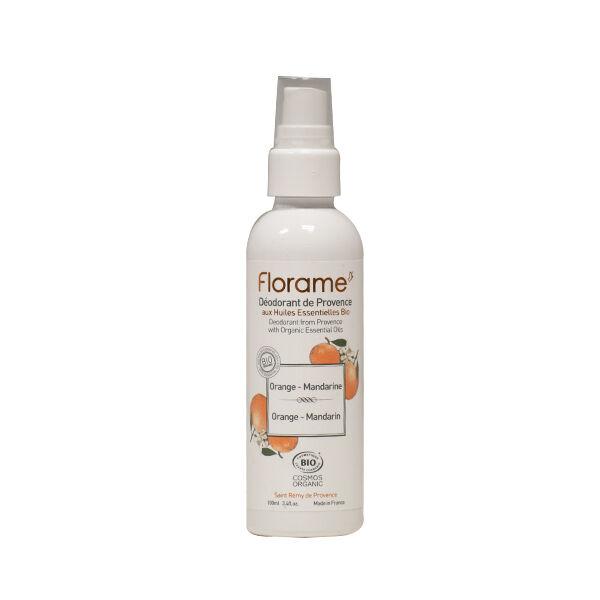 Florame Corps Déodorant Spray Orange Mandarine Bio 100ml