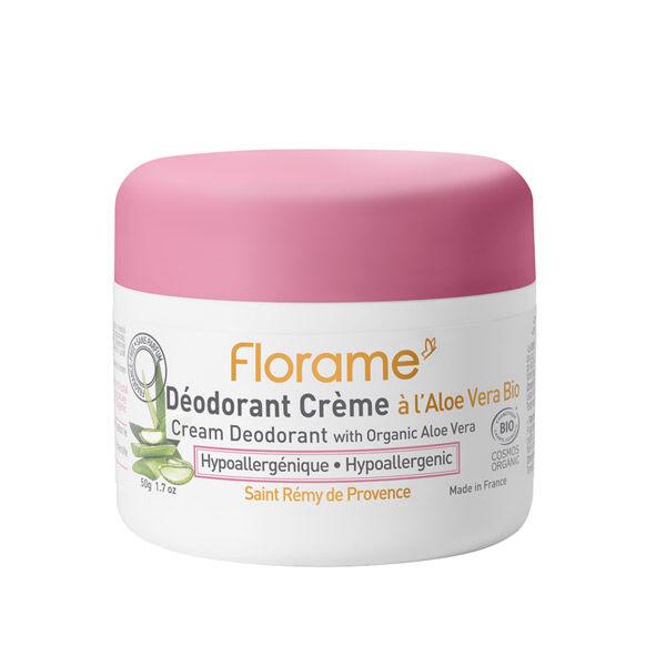 Florame Corps Déodorant Crème à l'Aloe Vera Bio 50g