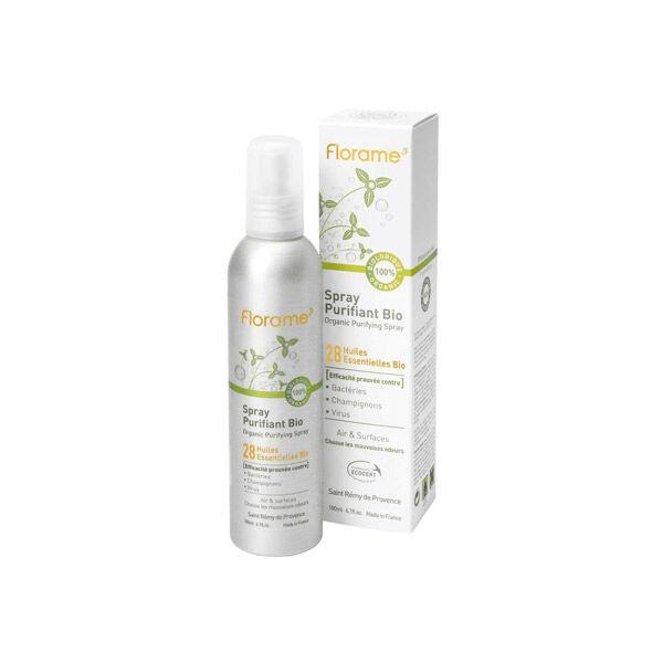Florame Spray Purifiant Bio Fraîcheur 28 Huiles Essentielles 180ml