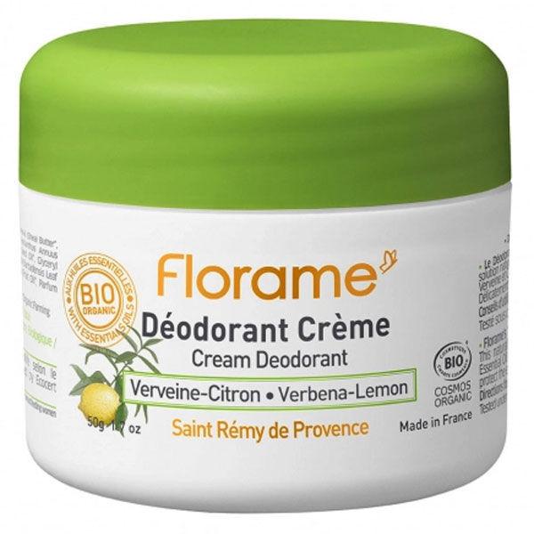 Florame Déodorant Crème Verveine-Citron 50g