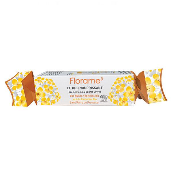 Florame Crackers Le Duo Nourrissant Baume Lèvres Bio 15ml + Crème Mains Bio 50ml