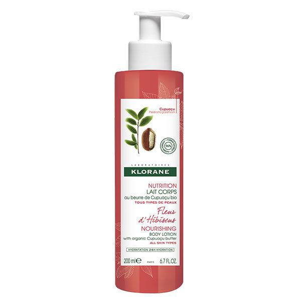Klorane Beurre de Cupuaçu Lait Hydratant Parfum Fleur d'Hibiscus 200ml