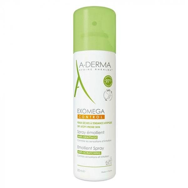 Aderma Exomega Control Spray Emollient Anti-Grattage 200ml