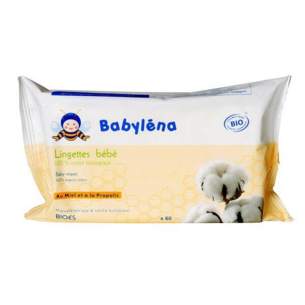 Babylena Lingettes Bébé 100% Coton Biologique 60 unités