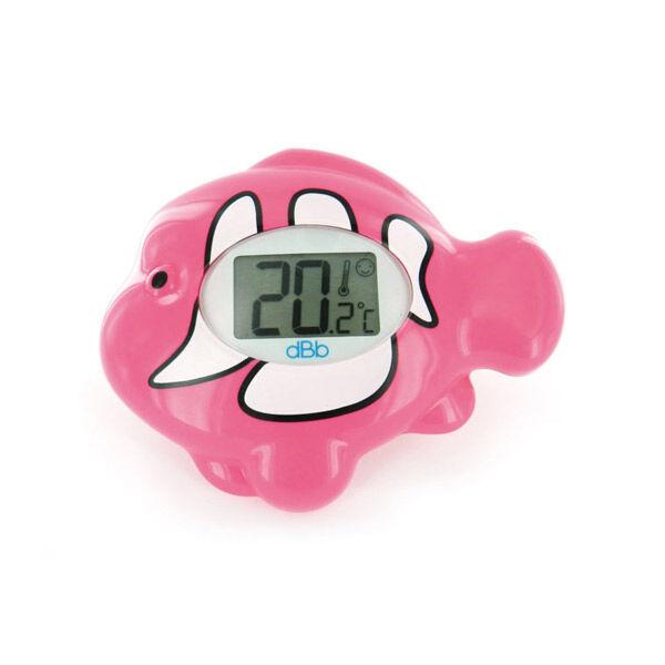 dBb Remond Thermomètre Electronique Ambiance et Bain Ecran Lumineux Poisson Rose