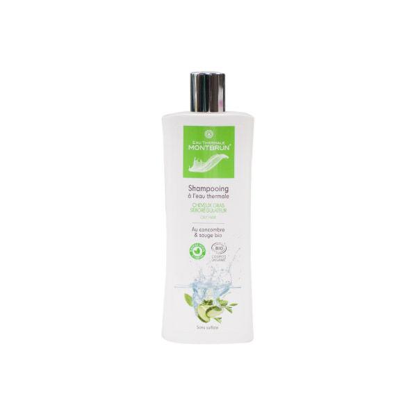 Montbrun Shampooing à l'Eau Thermale Cheveux Gras Concombre et Sauge Bio 250ml