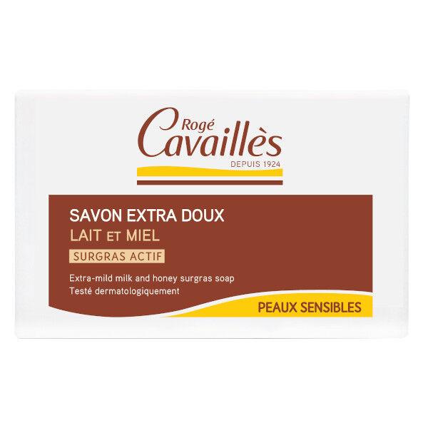 Rogé Cavaillès Savon surgras Extra Doux Lait et Miel 150g