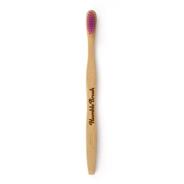 Humble Brush Brosse à Dents Vegan Bambou Adulte Rose Médium