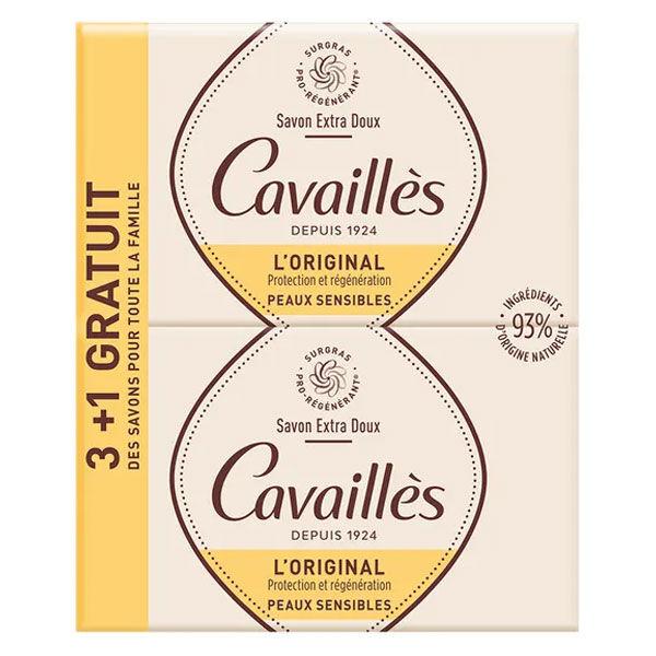 Rogé Cavaillès Savon Surgras Extra Doux 250g Lot de 3 + 1 gratuit