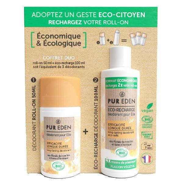 Pur Eden Duo Déodorant Bille Pour Elle 50ml + Eco-Recharge 100ml