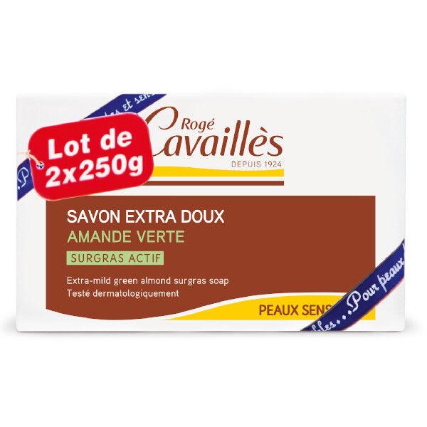 Rogé Cavaillès Savon Surgras Extra Doux Amande Verte Lot de 2 x 250g