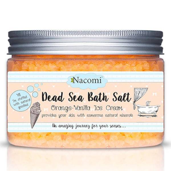 Nacomi Sels de Bain de la Mer Morte Glace Orange Vanille 450g