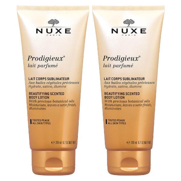 Nuxe Prodigieux Lait Parfumé Sublimateur Corps Lot de 2 x 200ml