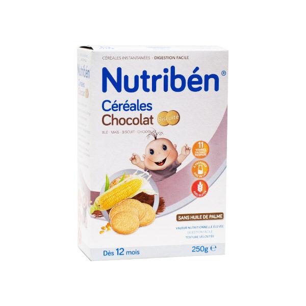 Nutriben 8 Céréales Chocolat Biscuité +12m 250g