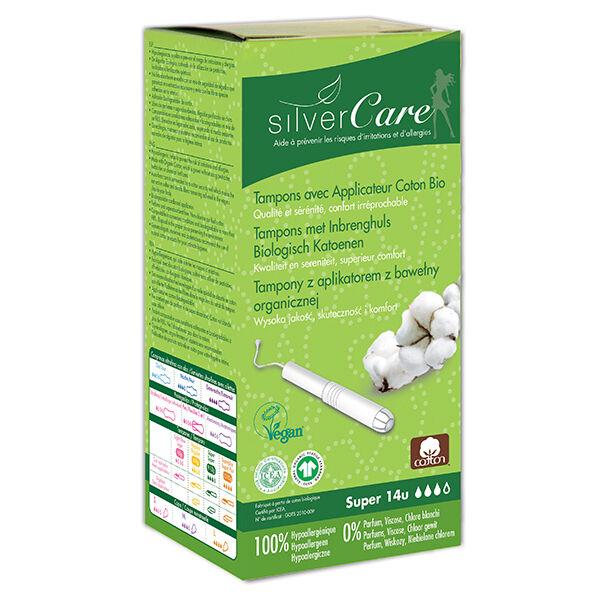 Silvercare Silver Care Tampon en Coton Super Bio 14 unités