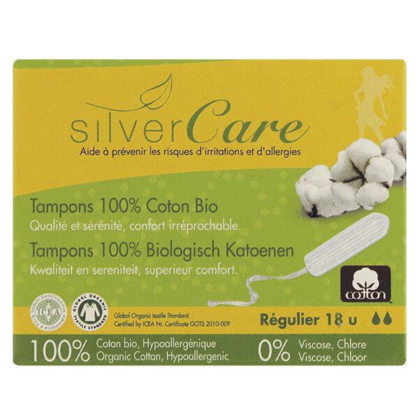 Silvercare Silver Care Tampon en Coton Régulier Bio 18 unités