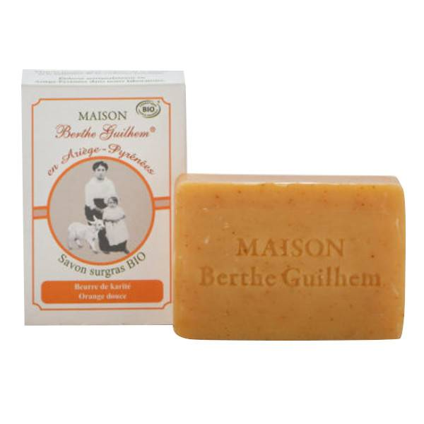Maison Berthe Guilhem Savon Beurre de Karité, Orange Douce Bio 100g