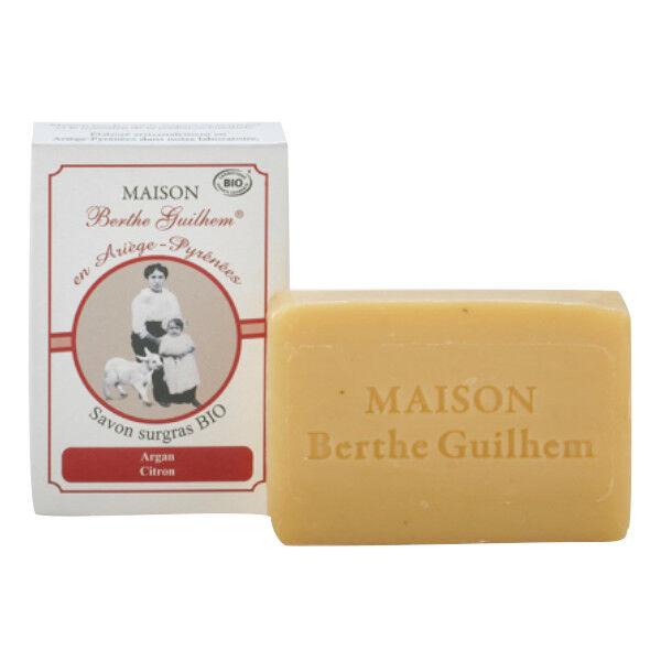 Maison Berthe Guilhem Savon Huile Végétale Argan, Citron Bio 100g