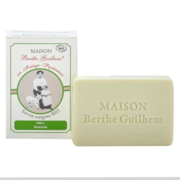 Maison Berthe Guilhem Savon Huile Végétale Olive HE Romarin et Argile Verte Bio 100g