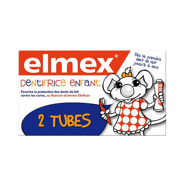 Elmex Dentifrice Enfant Lot de 2 x 50ml