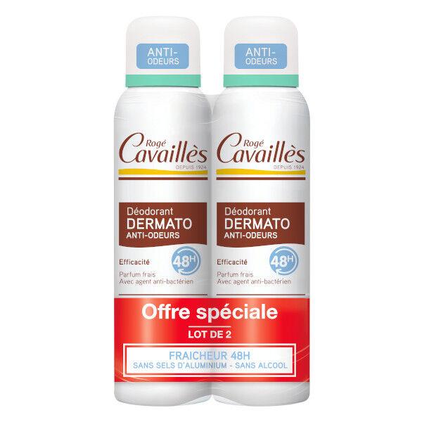 Rogé Cavaillès Rogé Cavailles Dermato Déodorant Anti-Odeurs Spray Lot de 2 x 150ml