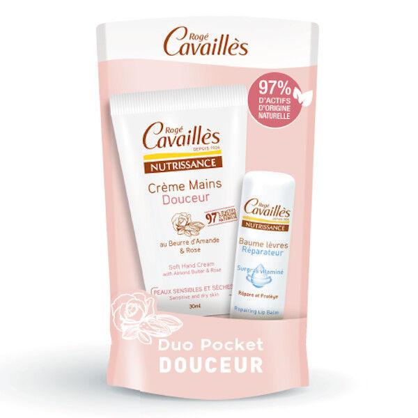 Rogé Cavaillès Duo Pocket Douceur Crème Mains 30ml et Baume Lèvres 5,5ml
