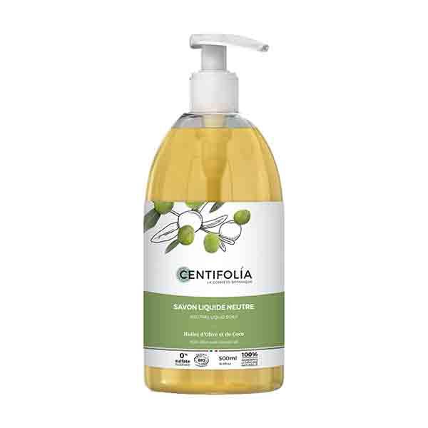Centifolia Savon Liquide Neutre Huile d'Olive et de Coco 500ml
