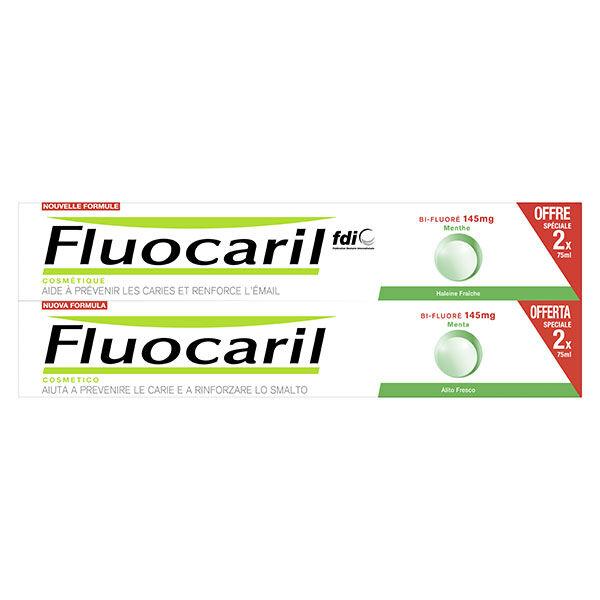 Fluocaril Cosmétique Bi-Fluoré 145mg Dentifrice Menthe Lot de 2 x 75ml