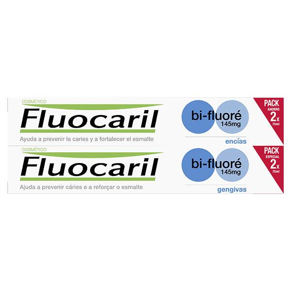 Fluocaril Cosmétique Bi-Fluoré 145mg Dentifrice Gencives Menthe Lot de 2 x 75ml