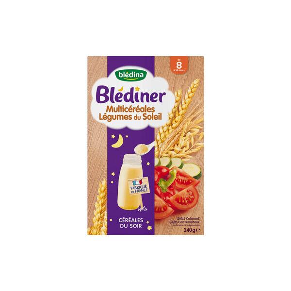 Blédina Blédiner Multicéréales Légumes du Soleil +8m 240g