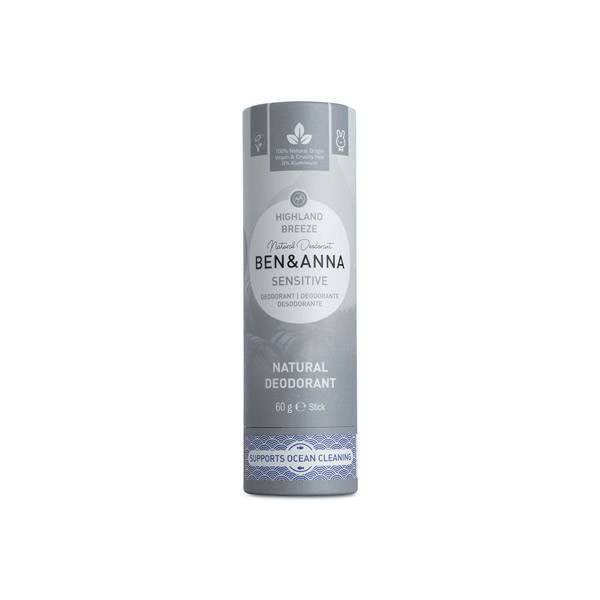 Ben & Anna Déodorant Tube Sensitive Highland Breeze 60g