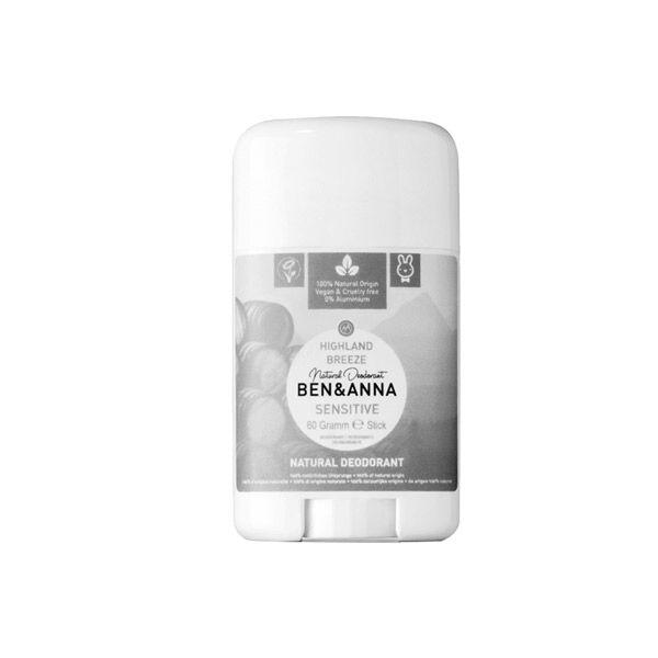Ben & Anna Déodorant Stick Sensitive Highland Breeze 60g