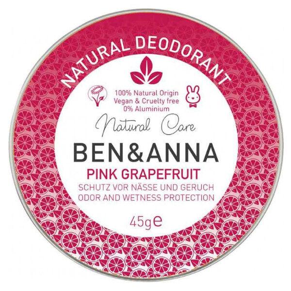 Ben & Anna Déo-Crème Pink Pamplemousse Rose 45g