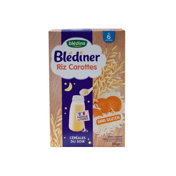 Blédina Blédiner Céréales Riz Carottes +6m 210g