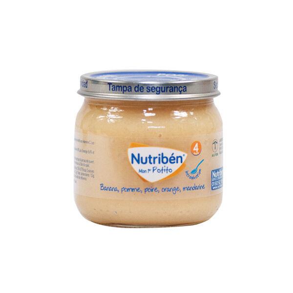 Nutriben Nutribén Mon Premier Potito Banana Poire Orange Mandarine +4m 120g