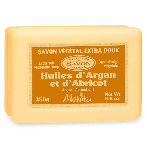 Melvita Savon Naturel Rectangulaire Huiles d'Argan et d'Abricot 250g