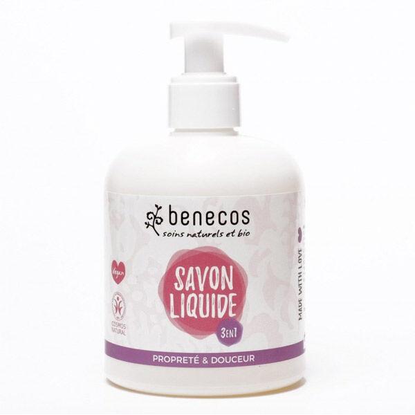 Benecos Savon Liquide Naturel Mains Visage Corps Douceur 3 en 1 300ml