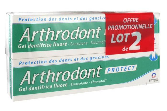 Arthrodont Protect Dentifrice Gel Fluoré Lot de 2 x 75ml
