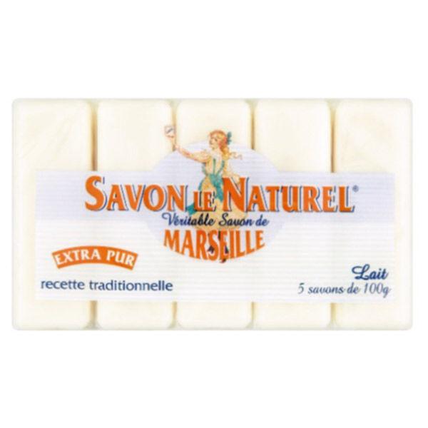 Savon Le Naturel Extra Pur de Marseille Lait 5 x 100g