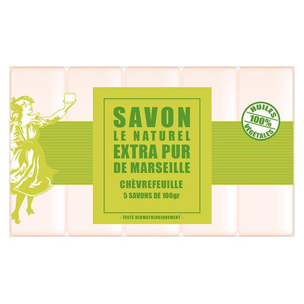 Savon Le Naturel Extra Pur de Marseille Chèvrefeuille 5 x 100g