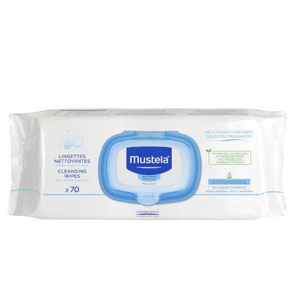 Mustela Lingettes Nettoyantes Peaux Normales 70 unités