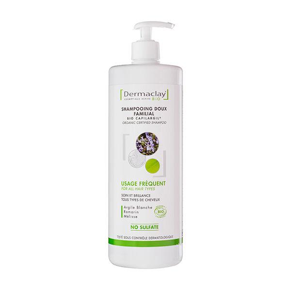 Dermaclay Shampooing Usage Fréquent Tous Cheveux Flacon Pompe 1L