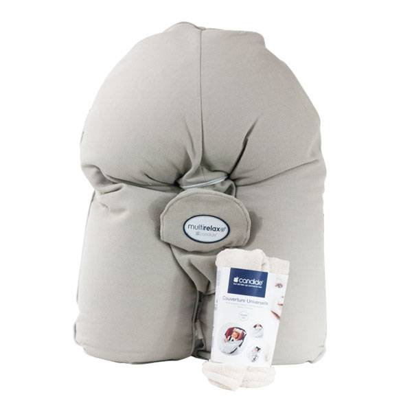 Candide Multirelax Nid d'Abeille Taupe + Couverture Softyrelax Offerte