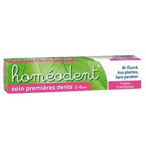 4480480 Boiron Homéodent Dentifrice Soin Premières Dents 2 - 6 ans Fraise Framboise 50ml