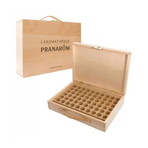 Pranarom Aromathèque - Capacité 60 flacons de 5ml et de 10ml - Publicité
