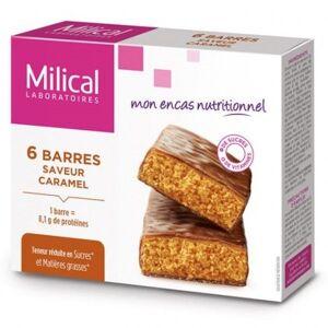 Milical Barres Minceur Hyperprotéinées Caramel 6 Unités - Publicité
