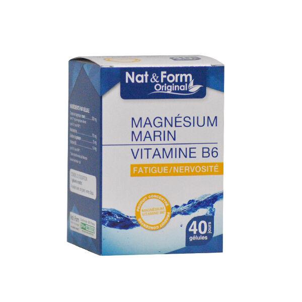 Nat & Form Original Magnésium + Vitamine B6 40 gélules