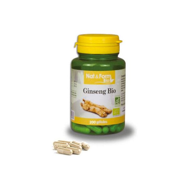 Nat & Form Bio Ginseng 200 gélules végétales